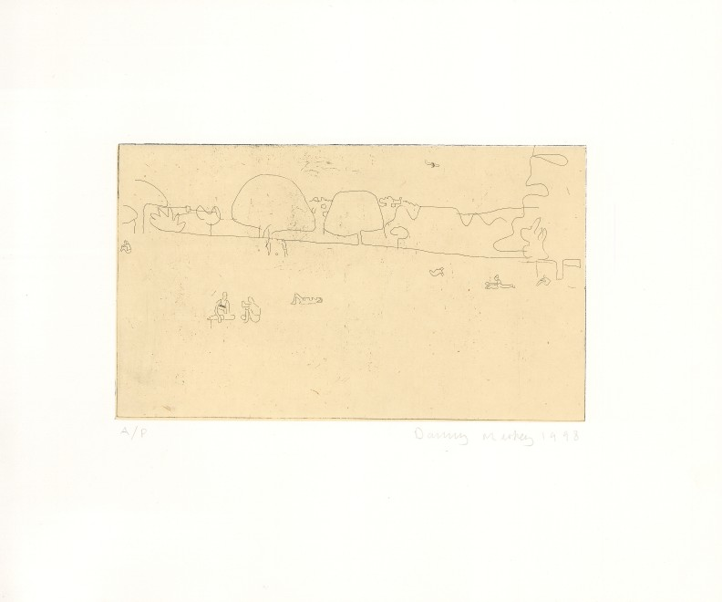 Park with Airplane and Sunbathers