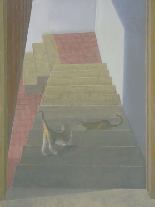 Two Cats on Stone Staircase