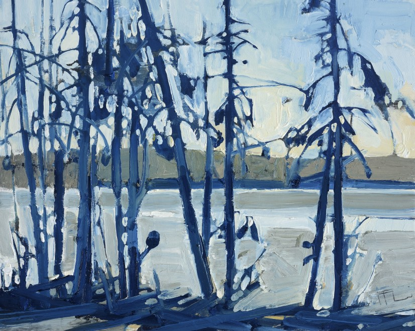 Through Spruce, Prussian Blue