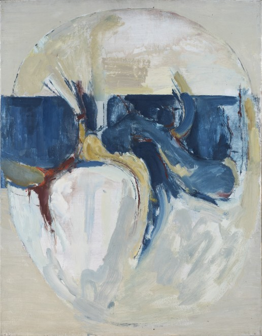 Oval Composition: Blue and Grey