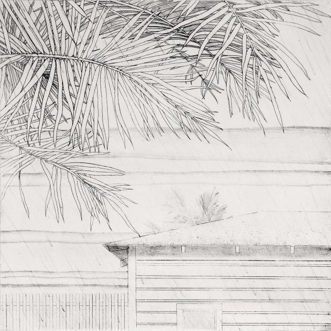 Beach House with Rain