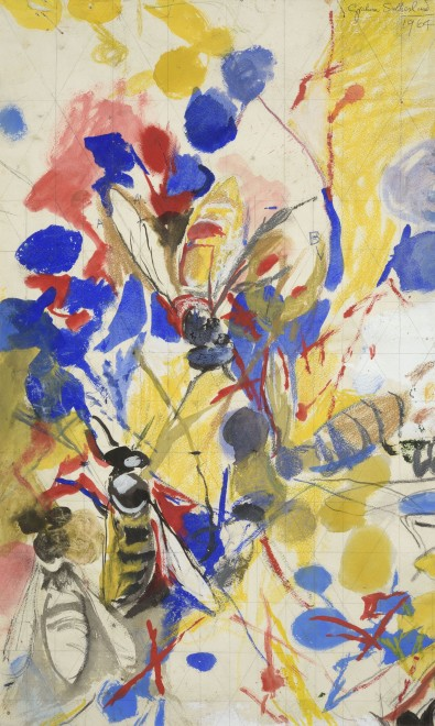 Sketch of Flowers and Wasps