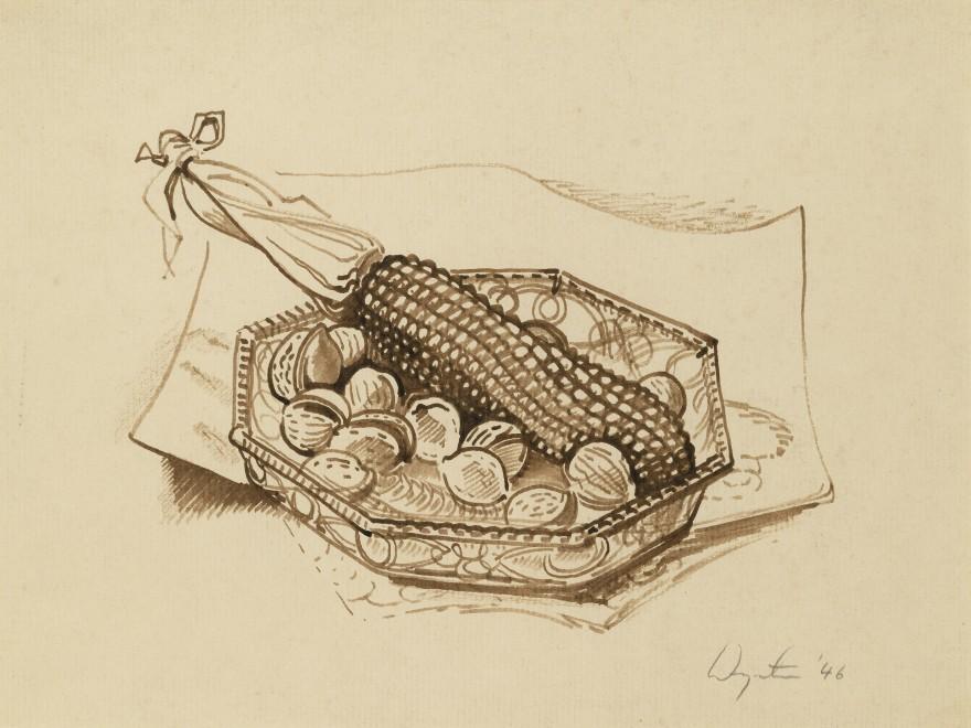Corncob and Walnuts
