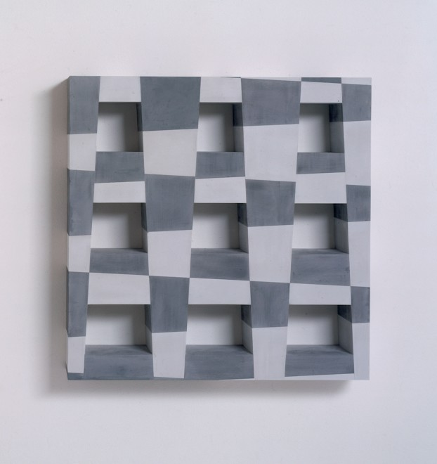 Overlaid Elements in Grey: Square