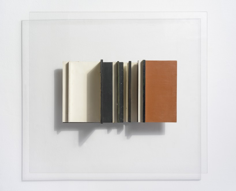 """<span class=""""artist""""><strong>Victor Pasmore</strong></span>, <span class=""""title""""><em>Abstract in White, Black and Ochre</em>, 1956</span>"""
