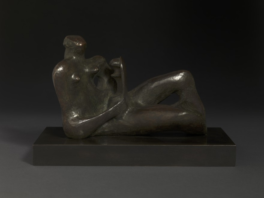 """<span class=""""artist""""><strong>Henry Moore</strong></span>, <span class=""""title""""><em>Maquette for Reclining Mother and Child</em>, 1974</span>"""