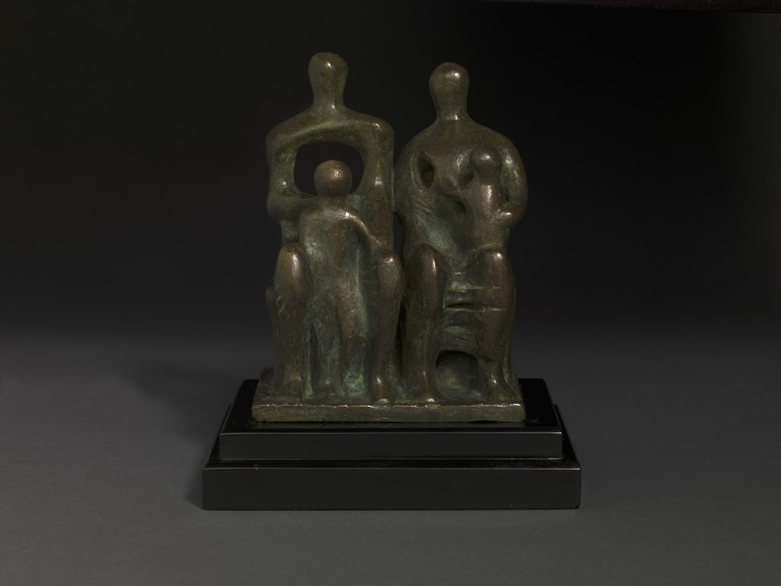 """<span class=""""artist""""><strong>Henry Moore</strong></span>, <span class=""""title""""><em>Family Group</em>, 1946</span>"""