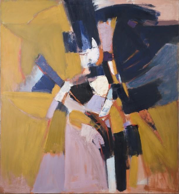 """<span class=""""artist""""><strong>Adrian Heath</strong></span>, <span class=""""title""""><em>Yellow Ochre</em>, 1959</span>"""