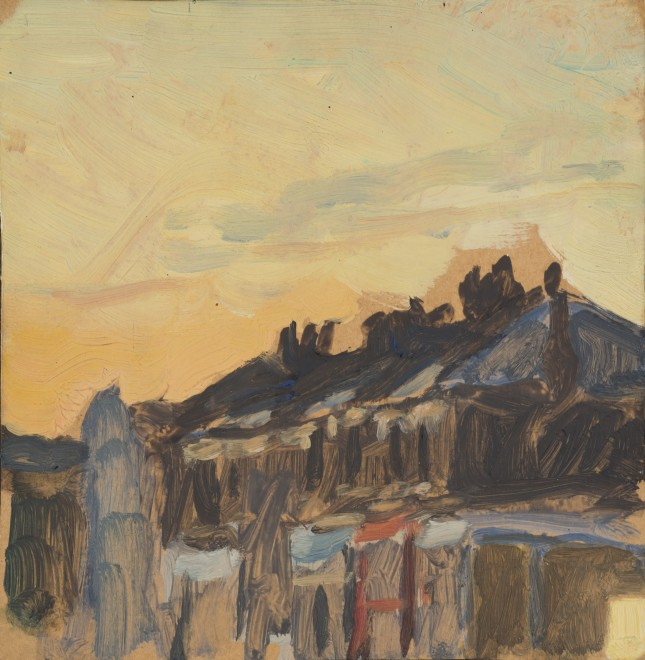 Row of Houses at Dawn