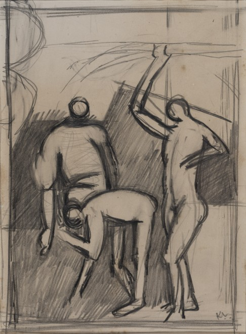 Study for 'Three Figures'