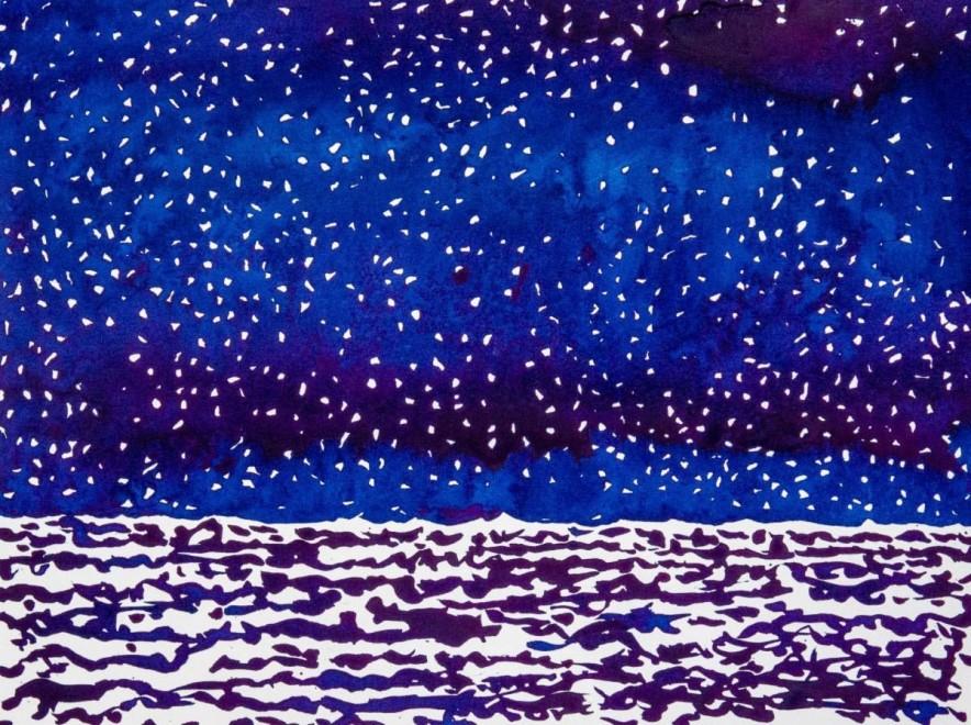Snow over the Sea