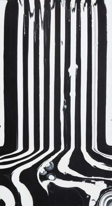 """<span class=""""artist""""><strong>Ian Davenport</strong></span>, <span class=""""title""""><em>Small Black and White Puddle</em>, 2011</span>"""