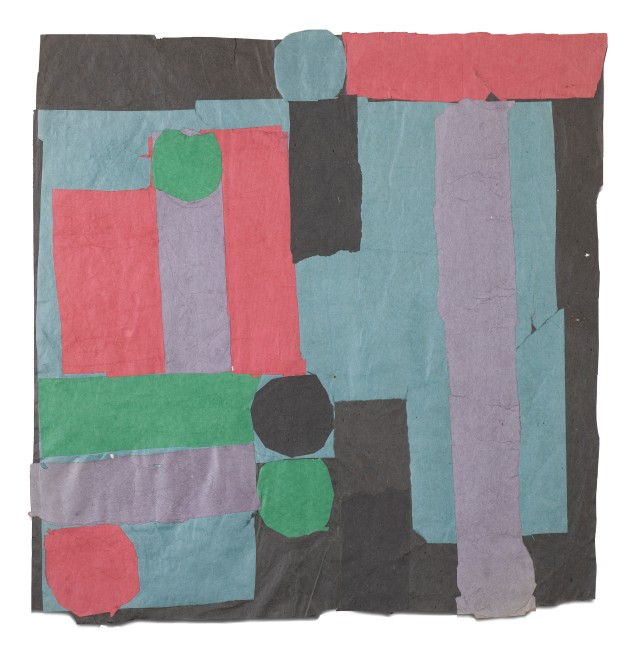 "<span class=""artist""><strong>Francis Davison</strong></span>, <span class=""title""><em>C 15 (Pale jade, rose red + grass green)</em>, c.1965-71</span>"