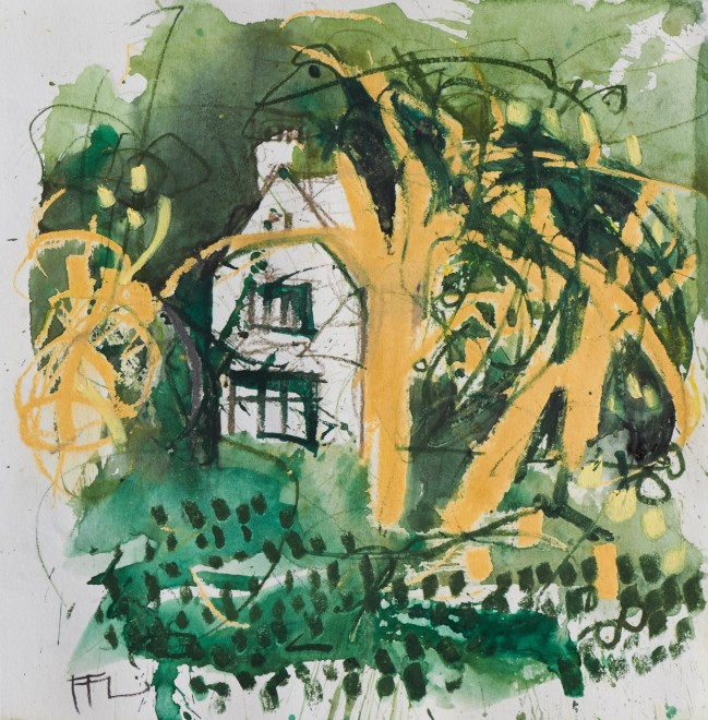 "<span class=""artist""><strong>Ffiona Lewis</strong></span>, <span class=""title""><em>Ransome's Farmhouse</em>, 2019</span>"
