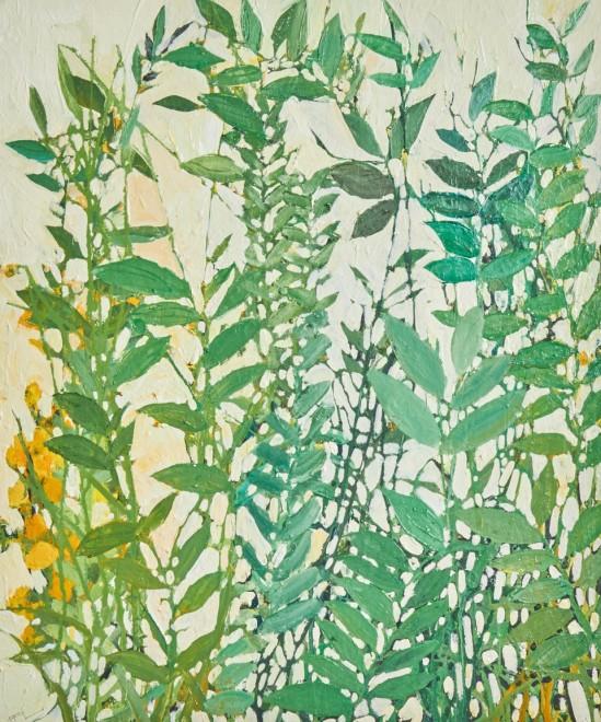 """<span class=""""artist""""><strong>Ffiona Lewis</strong></span>, <span class=""""title""""><em>Garden - Cadmium Yellow</em>, 2020</span>"""