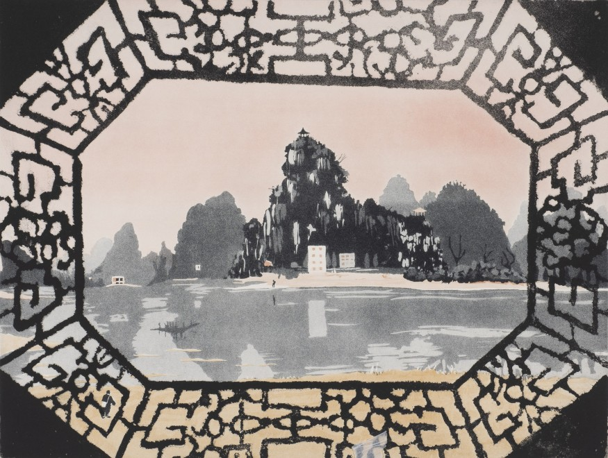 "<span class=""artist""><strong>Patrick Procktor</strong></span>, <span class=""title""><em>Da Miou Mountains, Kweilin</em>, 1980</span>"