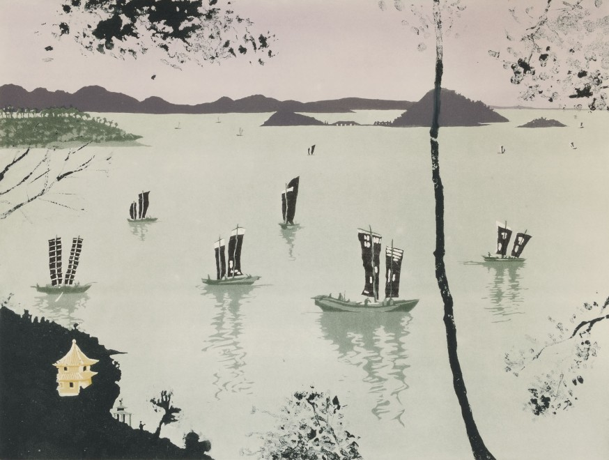 "<span class=""artist""><strong>Patrick Procktor</strong></span>, <span class=""title""><em>Lake Tai-Hu, Wusih</em>, 1980</span>"