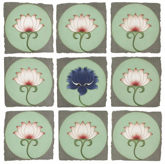 "<span class=""artist""><strong>Olivia Fraser</strong></span>, <span class=""title""><em>Blue Lotus </em>, 2020</span>"