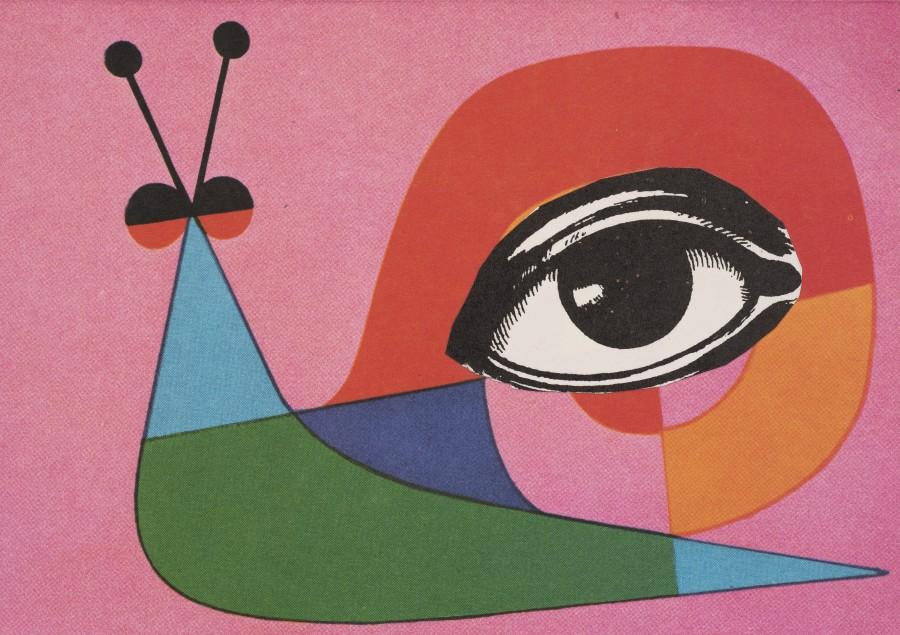 "<span class=""artist""><strong>Eileen Agar</strong></span>, <span class=""title""><em>Untitled Collage (Snail)</em>, c.1970</span>"
