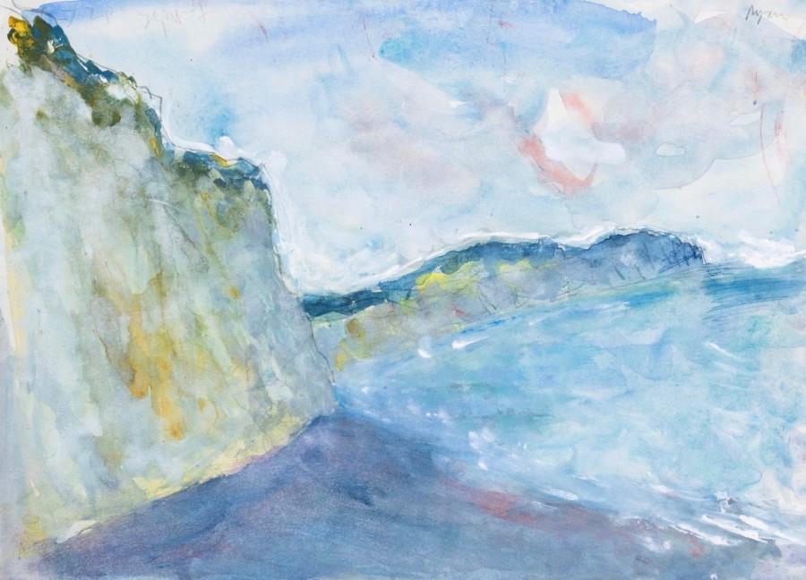 "<span class=""artist""><strong>Adrian Ryan</strong></span>, <span class=""title""><em>Beach Beneath the Cliff</em>, 1977</span>"