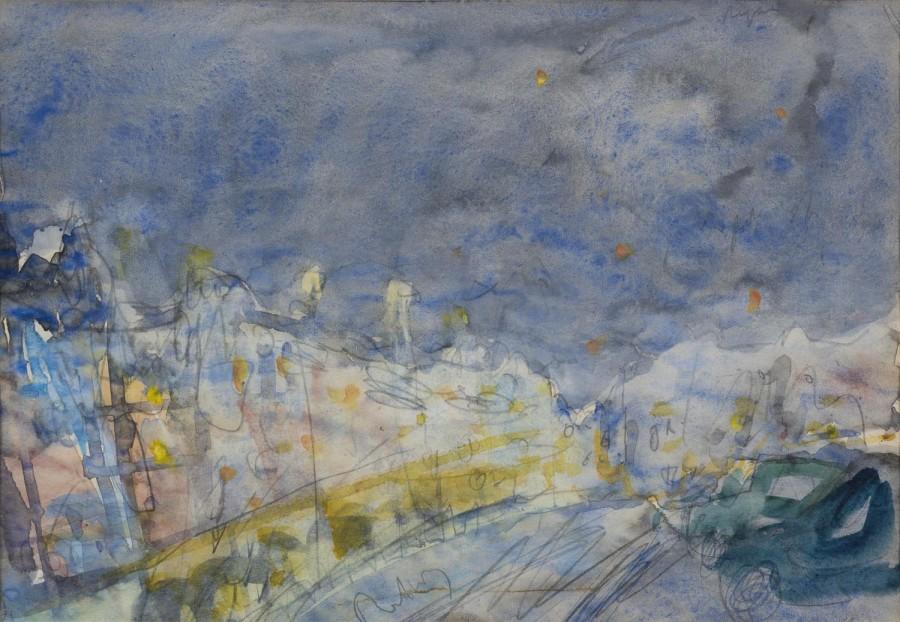 "<span class=""artist""><strong>Adrian Ryan</strong></span>, <span class=""title""><em>Dieppe Train Under Stars</em>, 1970</span>"
