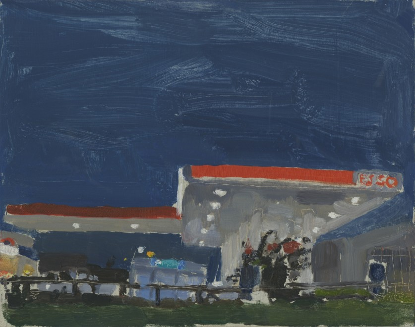 Esso Station at Night