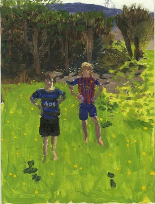 Tom and Joe in Derick's Garden