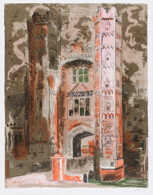 <span class=&#34;artist&#34;><strong>John Piper </strong></span>, <span class=&#34;title&#34;><em>Oxburgh Hall, Norfolk </em>, 1977</span>