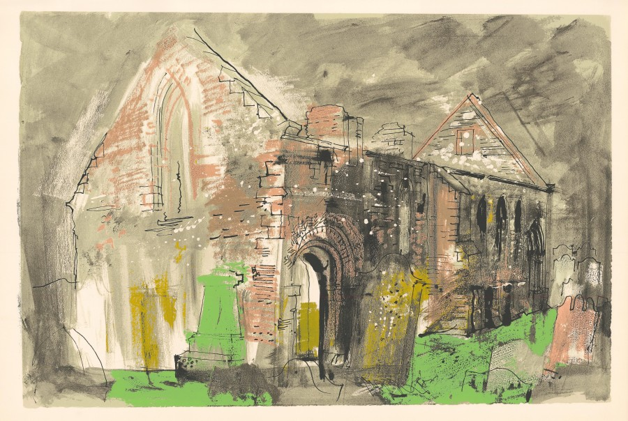 <span class=&#34;artist&#34;><strong>John Piper </strong></span>, <span class=&#34;title&#34;><em>Whithorn Priory</em>, 1975</span>