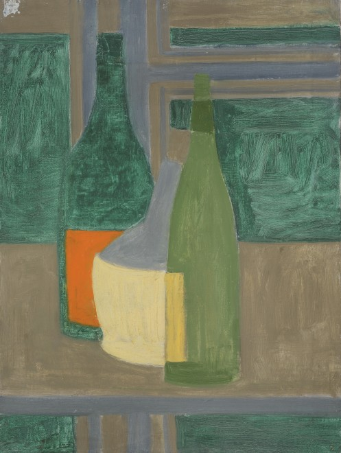 Two Green Bottles and Chianti Bottle