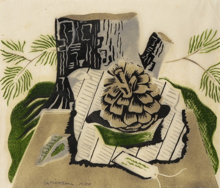 Still Life with Fir Cone