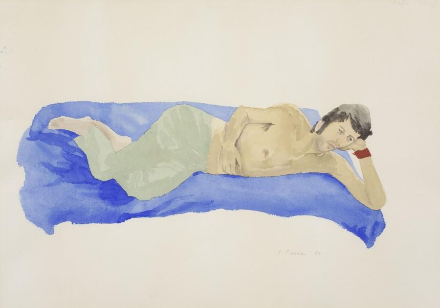 """<span class=""""artist""""><strong>Patrick Procktor RA</strong></span>, <span class=""""title""""><em>Kaffe Fassett</em>, 1967</span>"""