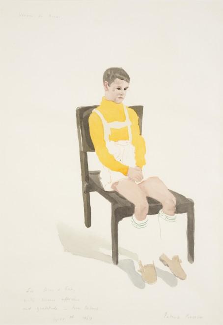 """<p><span class=""""artist""""><strong>Patrick Procktor RA</strong></span>, <span class=""""title""""><em>Verner de Biasi</em>, 1967</span></p>"""