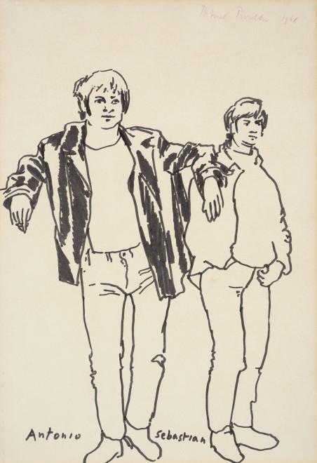 "<p><span class=""artist""><strong>Patrick Procktor RA</strong></span>, <span class=""title""><em>Antonio and Sebastian</em>, 1968</span></p>"