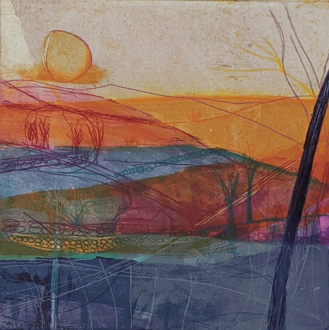 Louise Davies RE, Afternoon Sun