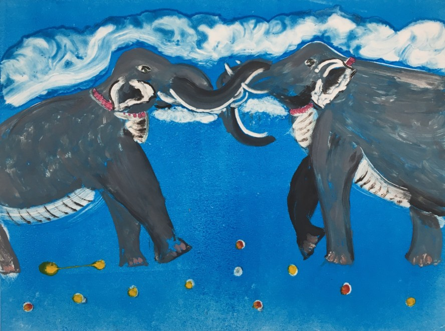 Karen Keogh RE, Angry Elephants