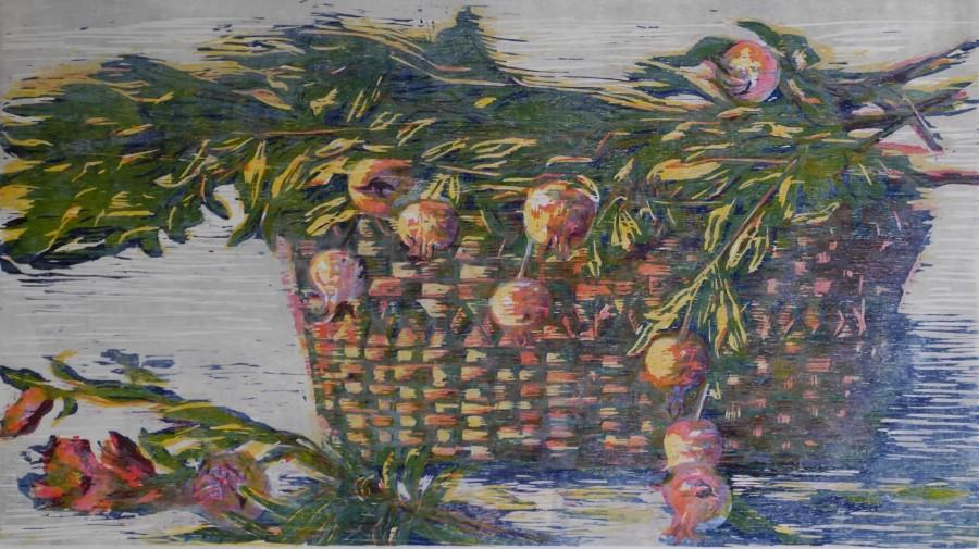 Hilary Daltry RE, Basket of Pomegranates