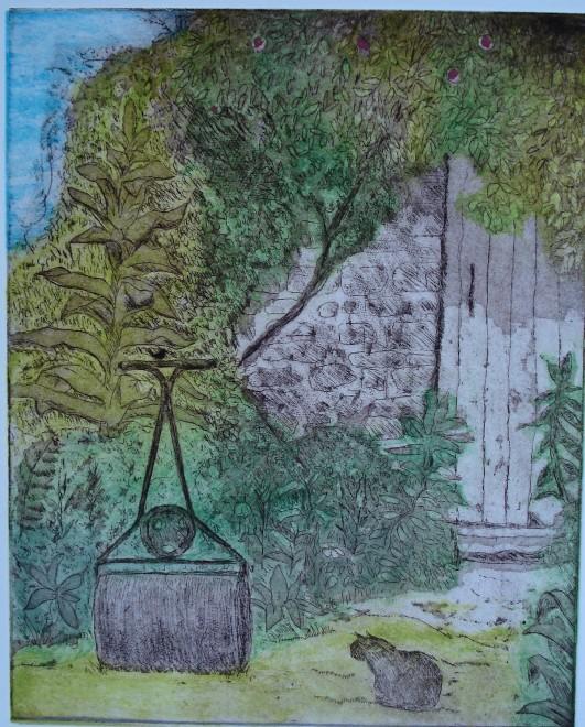 Hilary Adair RE, The Garden Roller