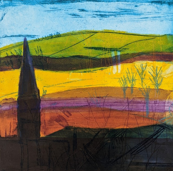 Louise Davies RE, Early Evening Shadows