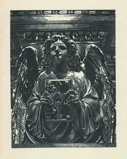 Anne Desmet RA RE, Angel and Book