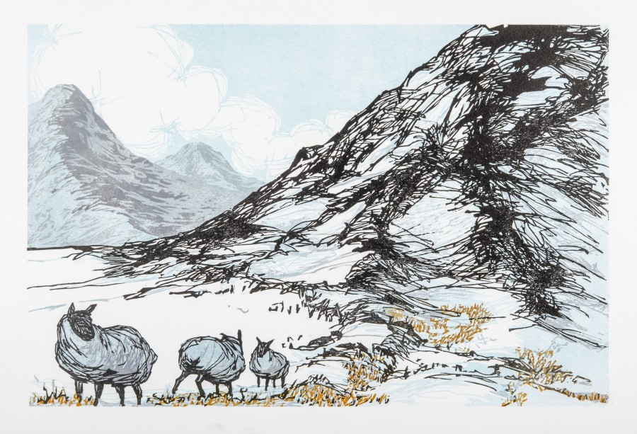 Laura Boswell ARE , Sheep at the Border