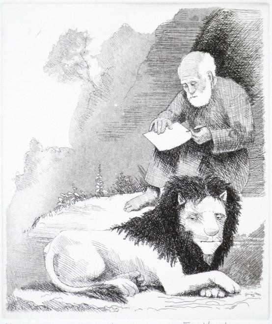 Frans Wesselman RE, Man, Lion