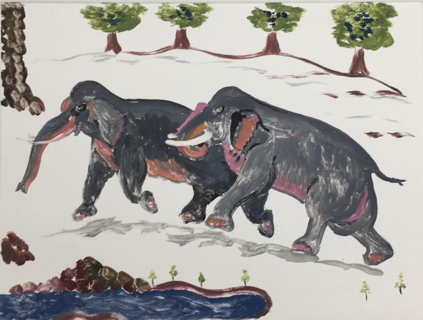 Karen Keogh RE, Elephants on the Run