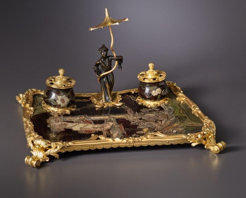 A Louis XV écritoire or inkstand