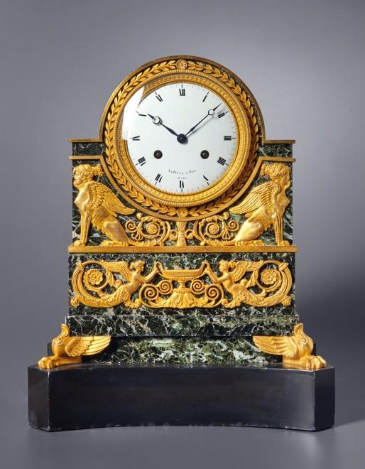 A Restauration mantel clock by Le Paute et Fils