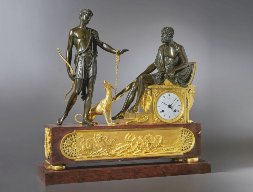 A Directoire mantel clock of eight day duration by Pierre-Francois-Gaston Jolly