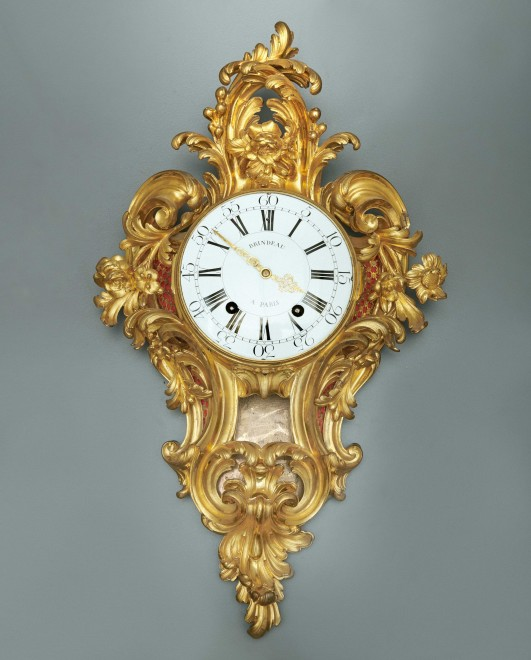 A Louis XV cartel clock of fourteen day duration, by Brindeau à Paris, case by the Robert Osmond