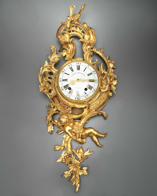 An Louis XV cartel clock of fourteen day duration, by Charles Baltazar
