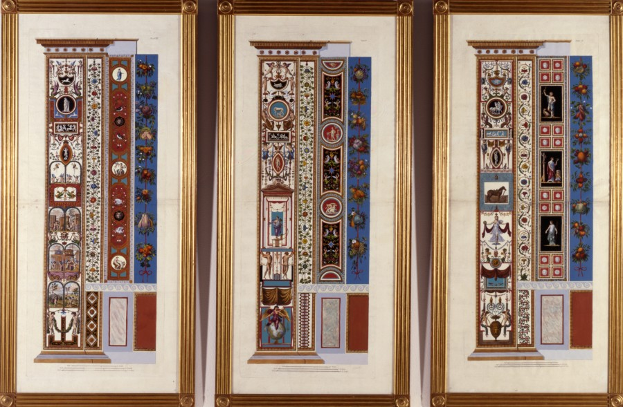 6 Decorative panels from %22Loggie di Raffaelo nel Vaticano%22, by Giovanni Ottaviani