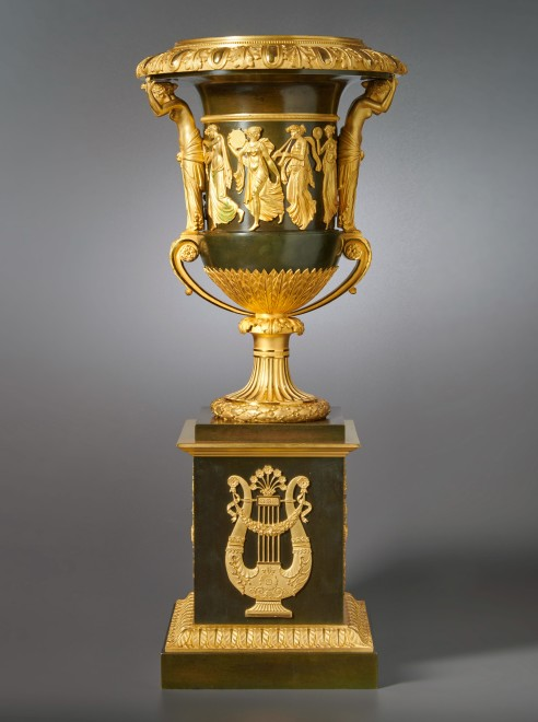 An Empire vase attributed to Pierre-Philippe Thomire of campagna form